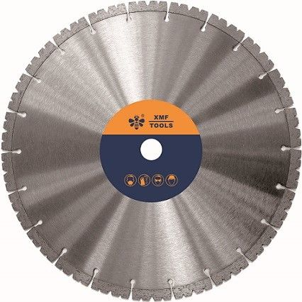 Flat	18  / 30 Inches Segmented Diamond Saw Blade  Stone Sintered Hot Pressed