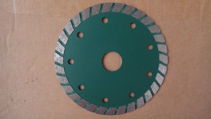 "4 "" 7 "" Turbo Diamond Saw Blade 110mm  Smooth Cutting Green Multi Application"
