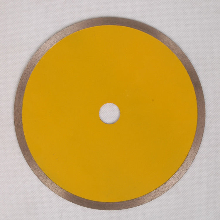 YellowContinuous Rim Saw Blade , Circular Saw Blade For Cutting Ceramic Tile Porelain Wet 10  12 Inches